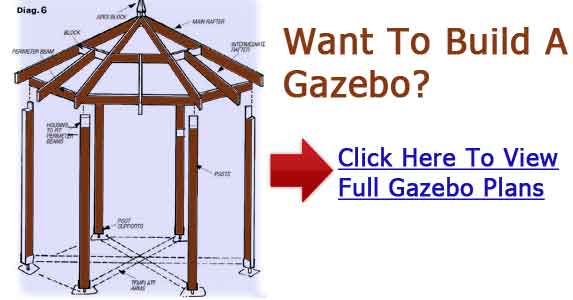 Octagon gazebo plans free square gazebo plans Build your own cupola